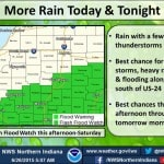 Flooding possible tonight, Saturday