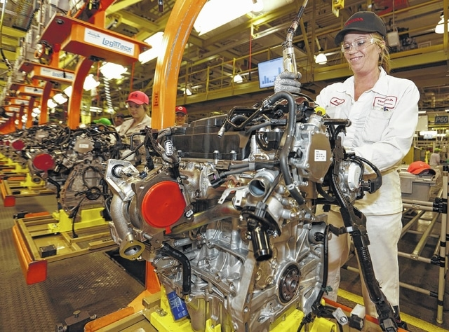 Anna Associate Amie Tierman Performs An Install Process On One Of The Plants New Turbo Engines