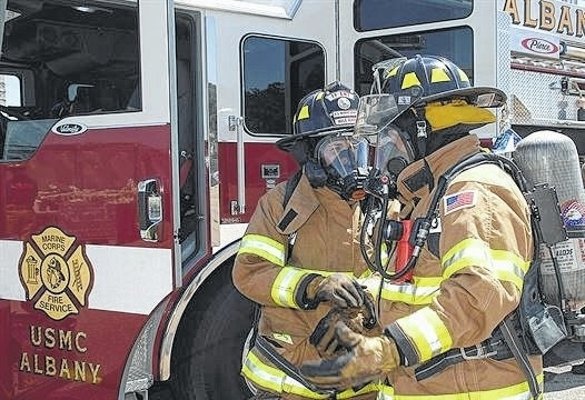 nathan hanks jr submitted photo firefighters megan cornell left and tim wright