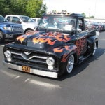 Real Wheels: '55 Ford F-100 a flaming attraction