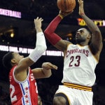 James scores 25,000 career point in Cavs' win over 76ers