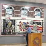 Retired firefighter completes painting