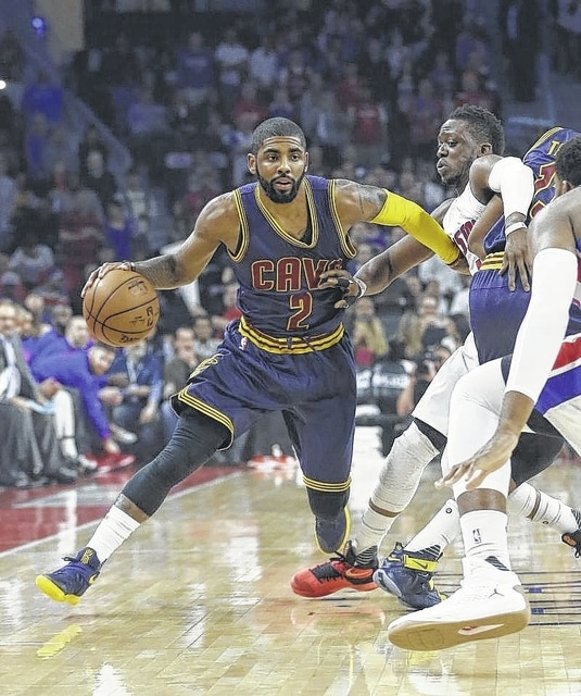 a8249df33c01 Cleveland Cavaliers guard Kyrie Irving (2) drives on Detroit Pistons guard  Reggie Jackson during