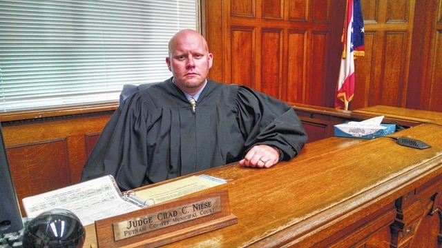 Judge Chad Niese of Putnam County Municipal Court sees cases connected to heroin in his court. Greg Sowinski | The Lima News