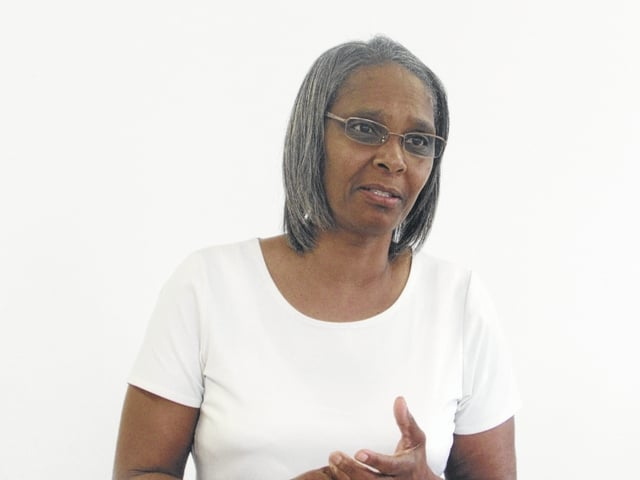 Carolyn Wilkerson spoke on her bad life choices early and how they caused strain in her relationship with her son and others at Maplewood Apartments Friday. Wilkerson said she now speaks out to help others make better choices.
