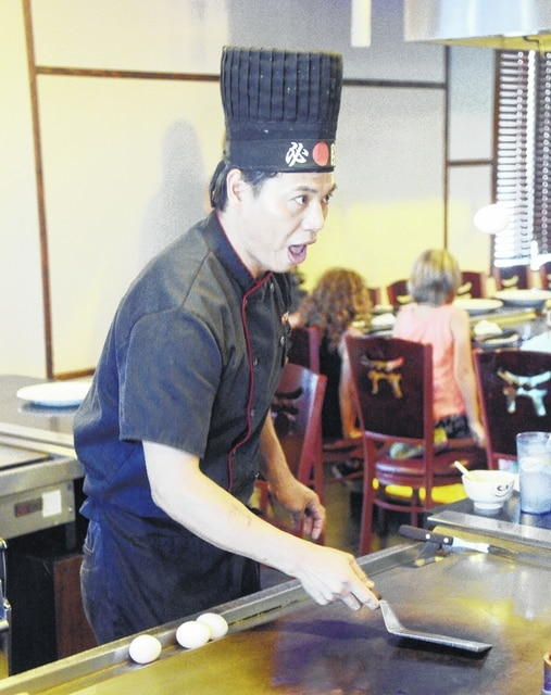 Food can be prepared right at your table at the Yamoto Steakhouse.