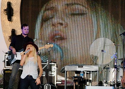 Kelsea Ballerini performs her opening number Saturday at the Allen County Fair in Lima. Ballerini performed her hits Peter Pan and Dibs.