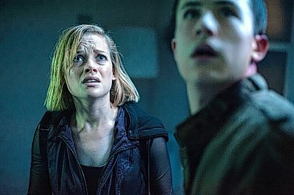 """This undated file image released by Sony Pictures shows Jane Levy, left, and Dylan Minnette in a scene from """"Don't Breathe."""" According to studio estimates Sunday, audiences turned out in droves for the late-summer thriller, which brought in $26.1 million."""
