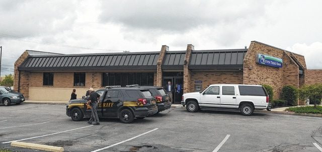 Afternoon bank robbery at Fifth Third Bank on Harding Highway.