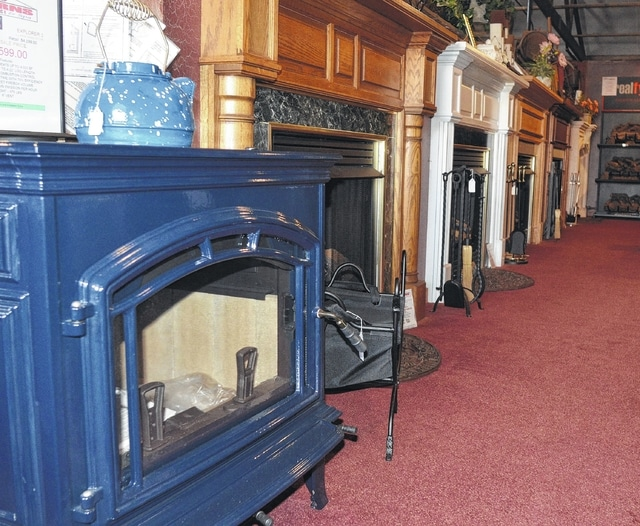 Charming Kerns Fireplace Part - 2: A Series Of Fireplaces Line The Showroom At Kerns Fireplace U0026 Spa In Lima.  The