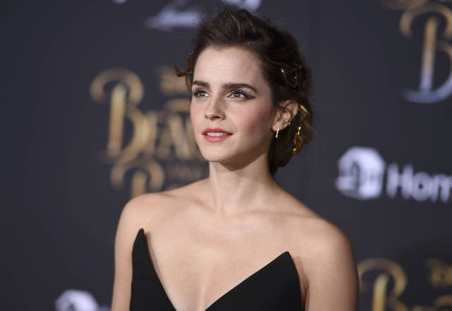 """Emma Watson arrives at the world premiere of """"Beauty and the Beast"""" at the El Capitan Theatre in Los Angeles. Watson told The Associated Press that critics who claimed her recent photoshoot for Vanity Fair betrayed her feminist ideals have """"a fundamental and complete misunderstanding of what feminism is."""""""
