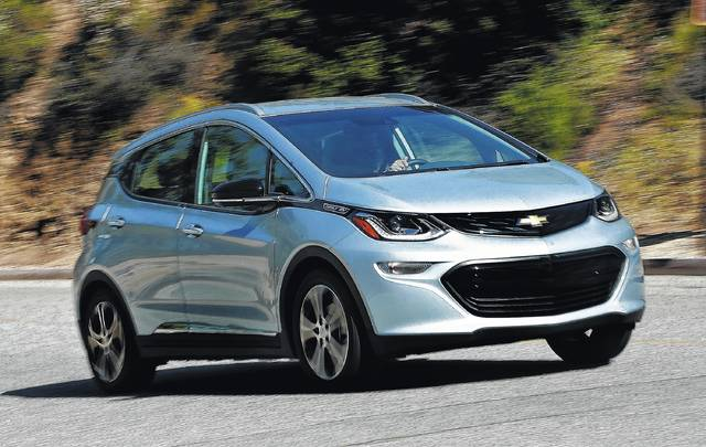 The 2017 Bolt Ev Chevrolet S Answer To Tesla Model 3 Is Capable Of Traveling