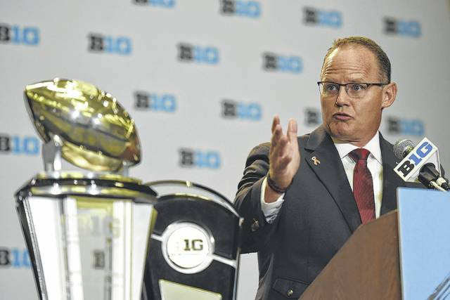 Indiana head coach Tom Allen speaks as part of Big Ten Football Media Days on Monday in Chicago.