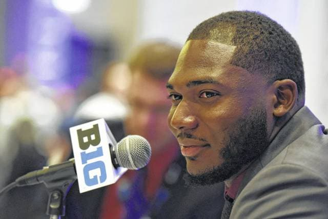 Ohio State defensive end Tyquan Lewis, who was part of Big Ten Football Media Days in Chicago, was the Big Ten Defensive Lineman of the Year last season.