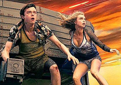 "This image released by STX Entertainment shows Dane DeHaan, left, and Cara Delevingne in a scene from ""Valerian and the City of a Thousand Planets."" (Vikram Gounassegarin/STX Entertainment via AP)"