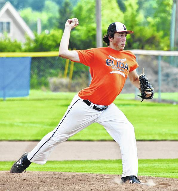 Elida's Justin Moore pitched a complete game to help Elida defeat LCC in the District 5 ACME sectional tournament.