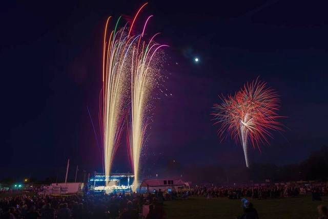 Tabitha Hawk | Submitted photo Fireworks ignite at the Star Spangled Spectacular on Tuesday night. Share your photos at http://j.mp/limaphotos.