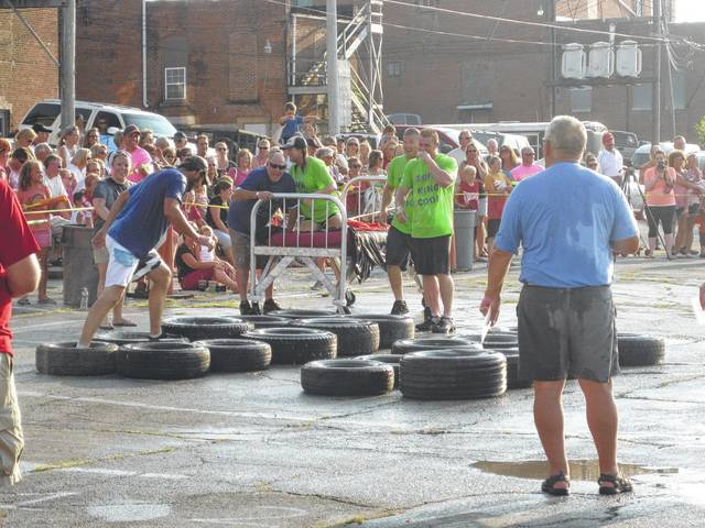 The bed races are a popular event.