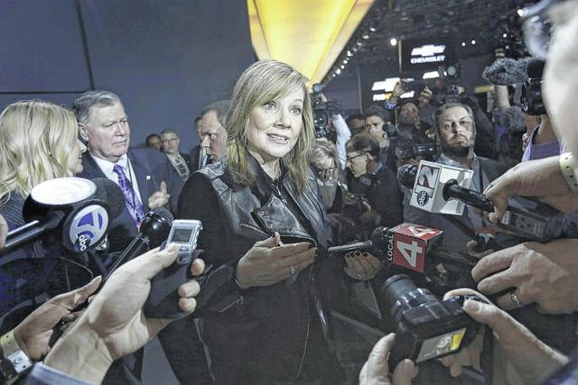 """When Mary Barra joined GM in 1985, a female chair and CEO of GM was almost inconceivable. However, she'll tell you, """"I do sit here today because there were people 20 years ago who gave me career opportunities and gave me constructive feedback and allowed me to grow and took risks on me with the jobs they put me in."""" (Romain Blanquart/Detroit Free Press/TNS)"""
