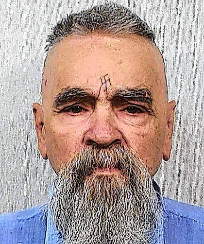 FILE - This Oct. 8, 2014, file photo, provided by the California Department of Corrections shows Charles Manson. The AP reported Aug. 25, 2017, that a story claiming the killer would be released on parole is false. The 82-year-old Manson was denied parole for the 12th time in 2012 and isn't eligible again until 2027. (California Department of Corrections via AP, File)
