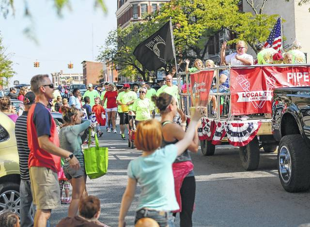 Area businesses make their way through the Labor Day Parade.