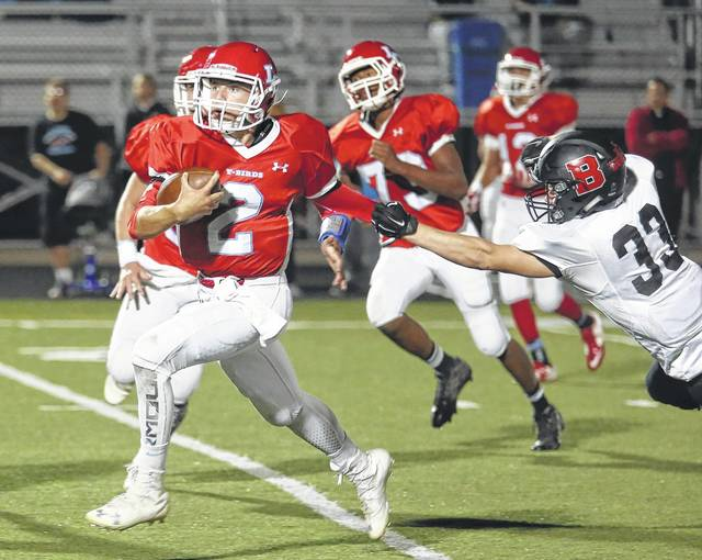 Lima Central Catholic senior Brendan Stolly (2), who was injured much of the year, returns as the Thunderbirds' starting quarterback this year.