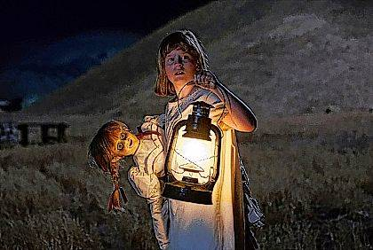 """This image released by Warner Bros. Pictures shows Lulu Wilson in a scene from """"Annabelle: Creation."""" (Justin Lubin/Warner Bros. Pictures via AP)"""