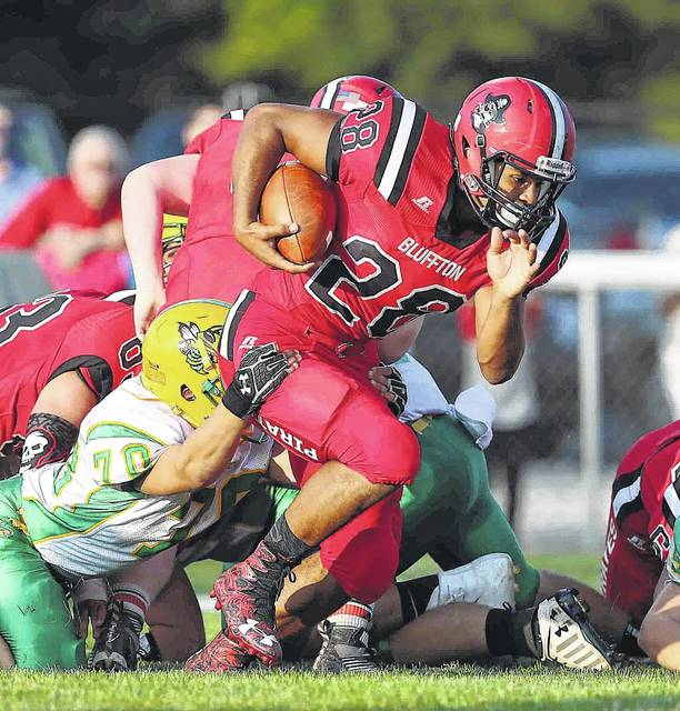 Bluffton running back Kaleb Jefferson is second in the Northwest Conference in rushing with 329 yards and six touchdowns. This week he faces Crestview, which is third in the league against the run.