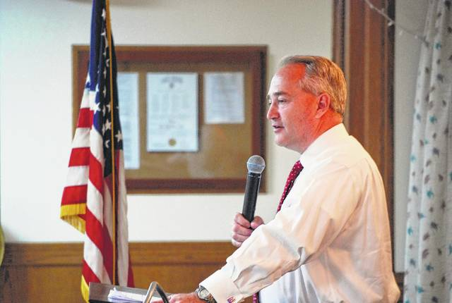 Rep. Keith Faber, R-Celina, was the guest speaker Friday at the Allen County Republican Party's monthly noon luncheon.