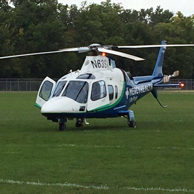 Submitted photo A Life Flight demonstration is held for local second-graders.