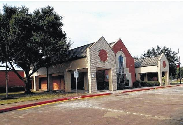 Paige Ricker, formerly of Delphos, shared a photo of the school where she teaches, Stovall Academy, prior to Hurricane Harvey