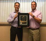 Trisco Construction owners Steve and Brian Walter recently received an award, noting them as a top-50 firm.