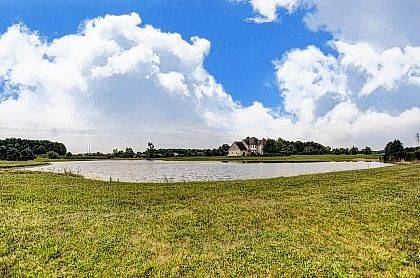 The 16-acre property at 3290 Stewart Road in Lima also includes a three-acre pond that is fully stocked.