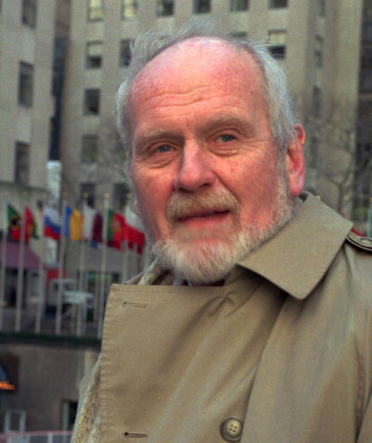 "In this undated file photo, Donald Bain, a ghost writer of fiction and non-fiction, poses for a photo in New York's Rockefeller Center. The prolific author and ghost writer whose credits included such popular crime series as ""Murder, She Wrote"" and the racy best-seller ""Coffee, Tea or Me?"" died in New York on Oct. 21. He was 82."