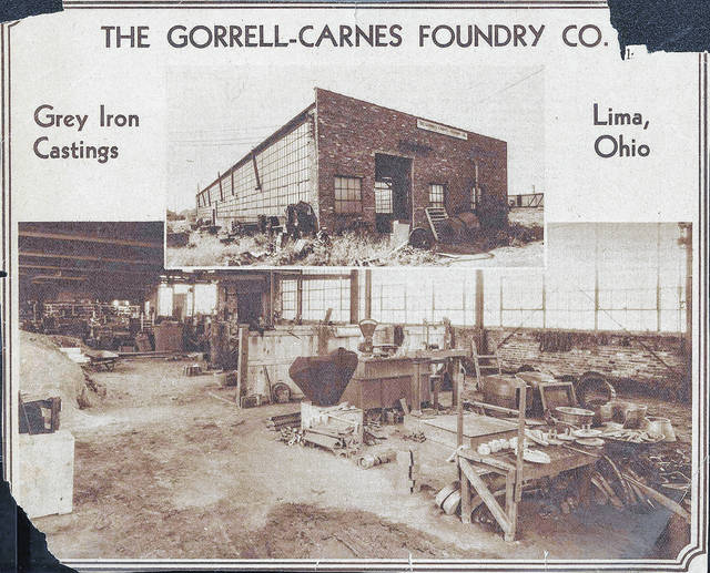 This undated image shows the Gorrell-Carnes Co. Its original foundry on Shawnee Street burned and it was moved in 1931 to the Greenlawn Avenue industrial area.