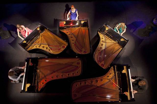"""The 5 Browns, a group of five siblings who each perform on piano, will be in concert tonight at Niswonger Performing Arts Center, Van Wert. The group has appeared on """"Oprah"""" and """"60 Minutes."""""""
