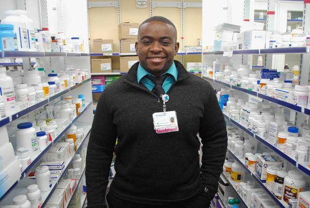 Wisdom Adaka, a pharmacist at Mercy Health-St. Rita's, urges residents to take advantage of the once-per-year opportunity to dispose of unwanted prescription medicines. Take-back sites in Lima and surrounding counties will be open from 10 a.m.-2 p.m. today to collect the unwanted meds.