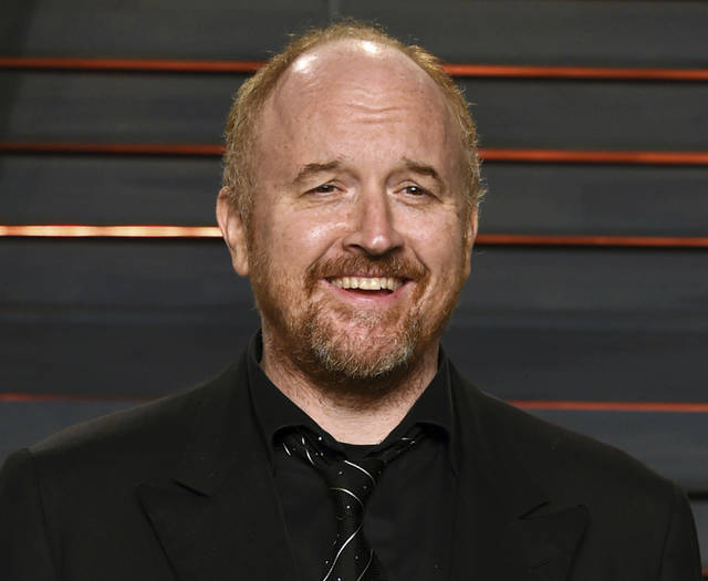 """In this Feb. 28, 2016 file photo, Louis C.K. arrives at the Vanity Fair Oscar Party in Beverly Hills, Calif. The New York premiere of Louis C.K.'s controversial new film """"I Love You, Daddy"""" has been canceled amid swirling controversy over the film and the comedian."""