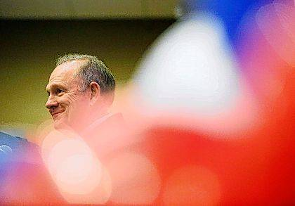 In this Nov. 11, 2017, photo, former Alabama Chief Justice and U.S. Senate candidate Roy Moore speaks at the Vestavia Hills Public library in Birmingham, Ala. A new accuser said Nov. 13 that as a teenager in the 1970s she was sexually assaulted by Moore in a locked car, further rocking the Alabama Republican's race for an open Senate seat.  (AP Photo/Brynn Anderson)