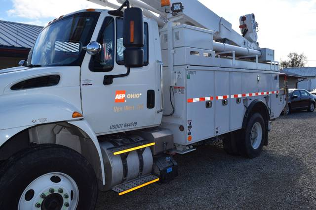 An American Electric Power truck stolen from Van Wert County was found by law enforcement officials Monday in a storage unit facility in Grover Hill.