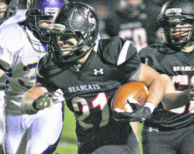 Spencerville running back Chris Picker gained 261 yards for the Bearcats in their postseason opening round win against Mechanicsburg. The yards might be tougher to come by this week when Spencerville battles defending state champion Marion Local at 7:30 p.m. Friday.