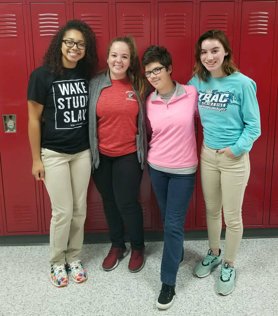 From left, Preshus Lowe, Reilie Lyons, Cassie Phillips and Cora Bicknell.