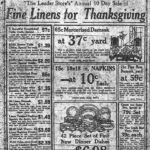 Thanksgiving, 100 years ago