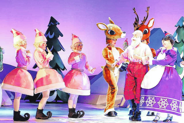 """""""Rudolph the Red-Nosed Reindeer: The Musical"""" will be staged tonight at Niswonger Performing Arts Center, Van Wert."""