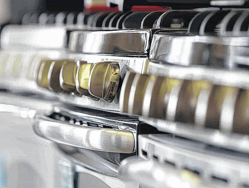Stoves can be seen in a store in Albany, N.Y. Rent-to-own is a way to finance furniture, appliances or electronics that doesn't require good credit. Delivery is immediate, but payments may double or triple the price.