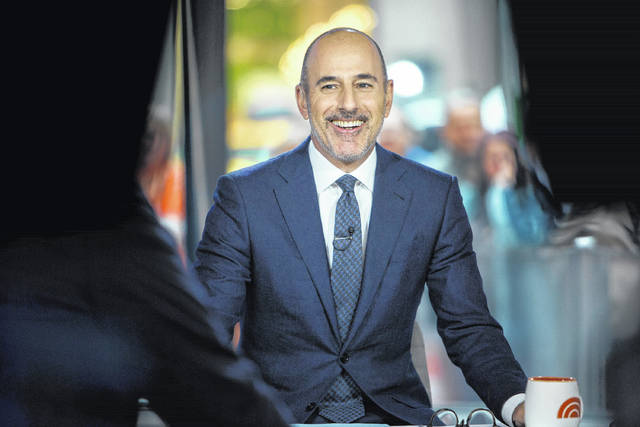 """Matt Lauer appears Nov. 16 during a broadcast of the """"Today"""" show in New York. NBC News fired the longtime host for """"inappropriate sexual behavior."""" Lauer's co-host Savannah Guthrie made the announcement at the top of Wednesday's """"Today"""" show."""