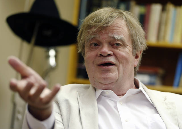 """The president of Minnesota Public Radio has told employees the decision to cut business ties with Garrison Keillor, pictured above, resulted from """"multiple allegations"""" that covered an extended period of time. (AP Photo/Jim Mone, File)"""
