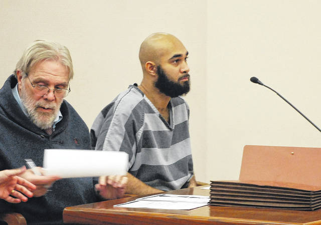 Dylan Hartwell, 25, charged with kidnapping and felonious assault for shooting Lima resident Travis Burkholder more than a year ago, appeared in court Tuesday morning to waive his right to a speedy trial.