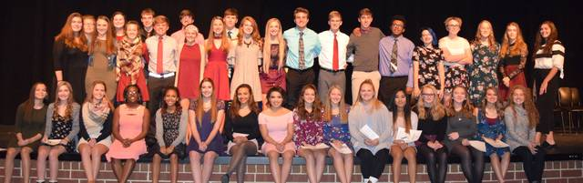 Twenty-five new members were inducted recently into the Elida High School National Honor Society.