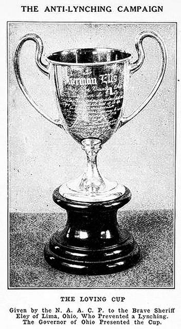 Sherman Eley was awarded this cup by the NAACP.
